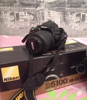 Продам зеркальный фотоаппарат Nikon d5100 kit