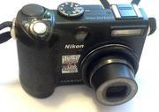 Nikon coolpix P5100,  фотоаппарат с коробкой